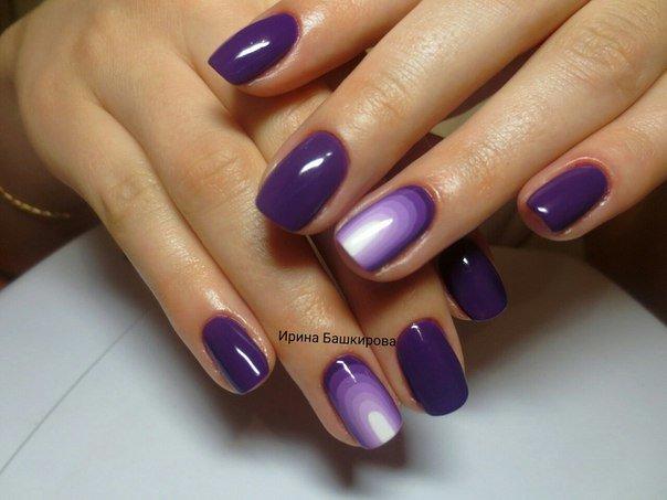 Фиолетовый шеллак с дизайном