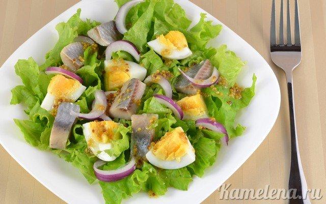Рецепты салатов из сельди с
