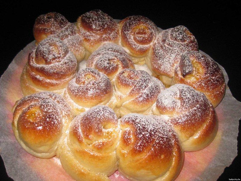 Домашние сдобные булочки рецепт с фото