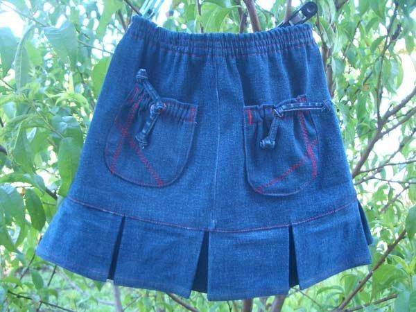 Юбки для девочек из старых джинсов сшить 322