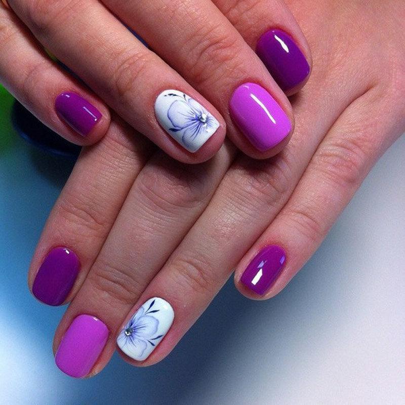Гель лак дизайн на короткие ногти лето