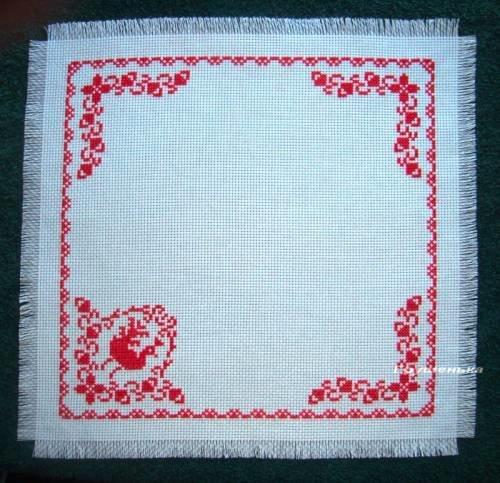 Вышивка крестом салфетки схемы фото 46