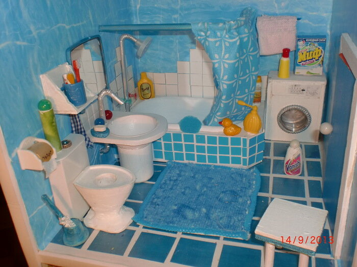 Как сделать ванну для куклы своими руками 13