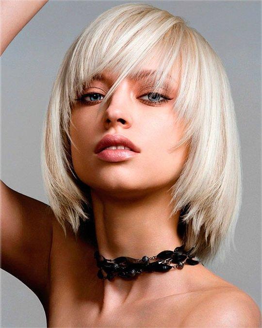 Прически с челкой с тонкими волосами