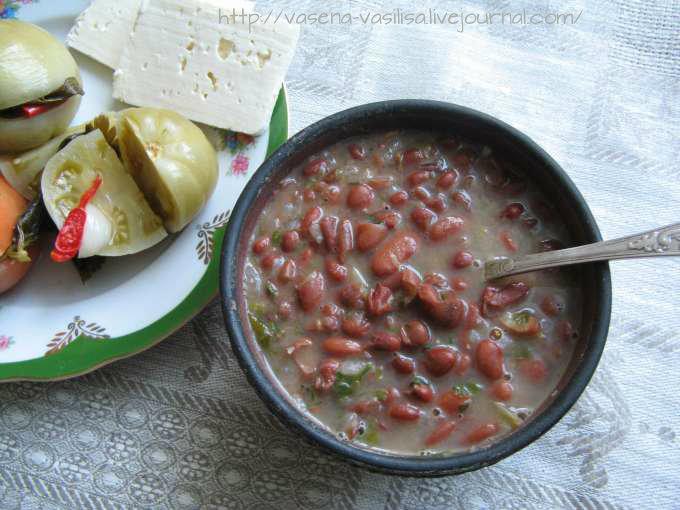 Лобио из красной фасоли классический суп