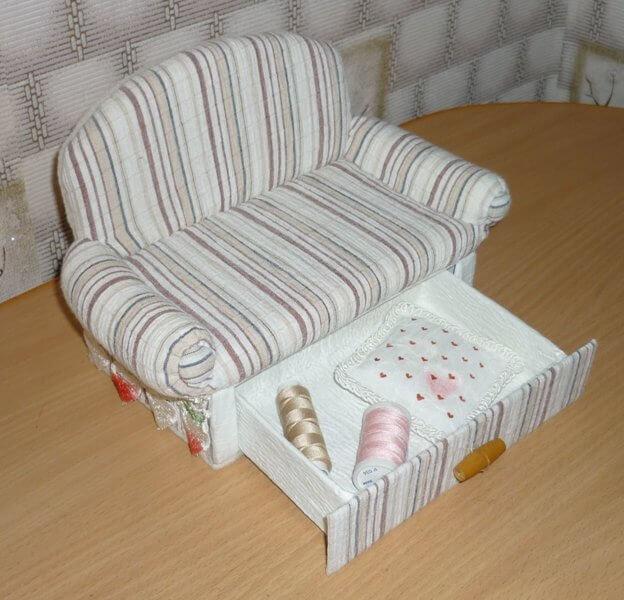 Сделать своими руками диван для куклы