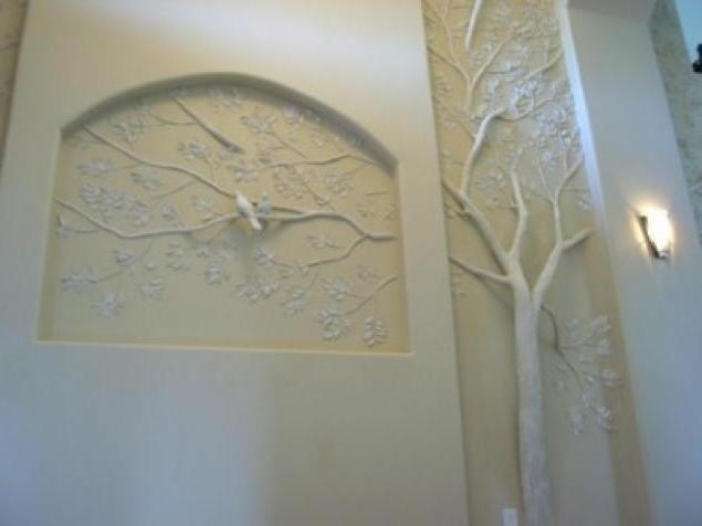 Декор своими руками из гипсокартона на стенах 395