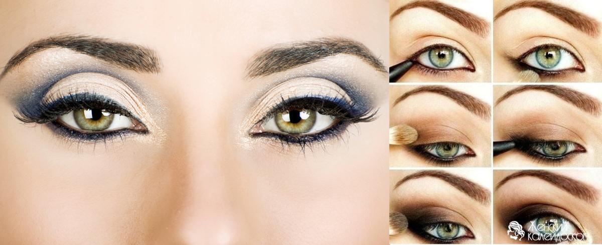 Как сделать макияж смоки айс с зелеными