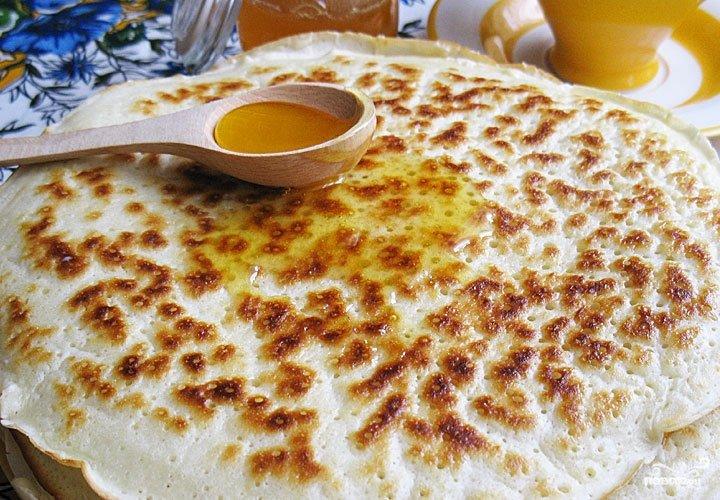 Блины на кефире толстые рецепт с пошаговое