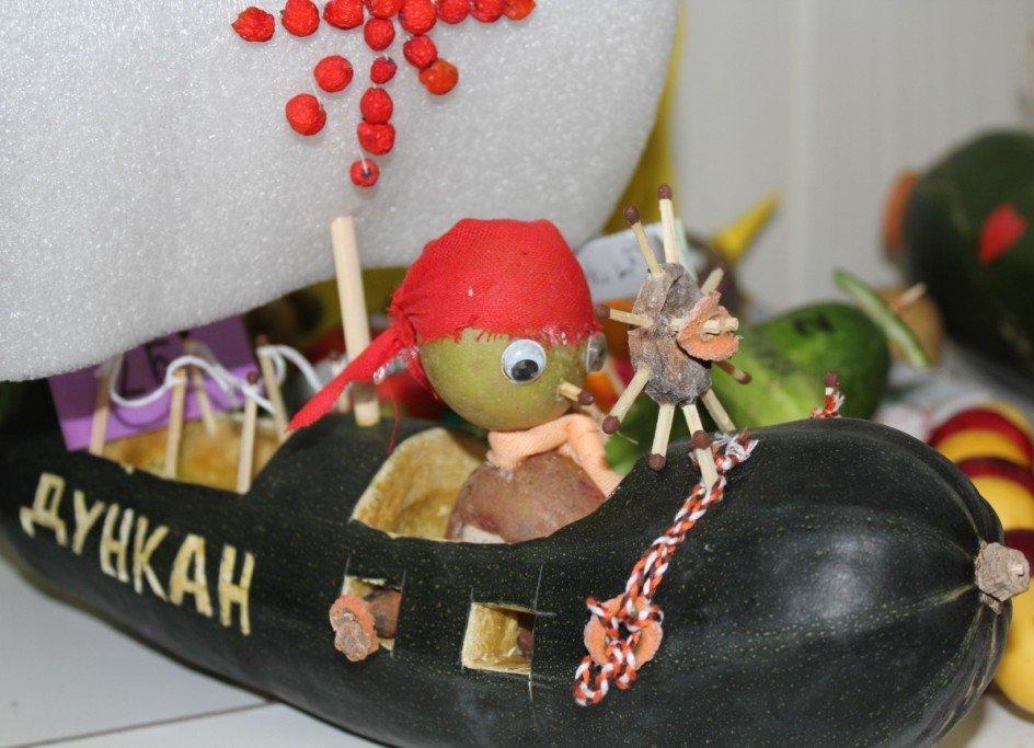 Сделать поделку из кабачка в детский сад 98