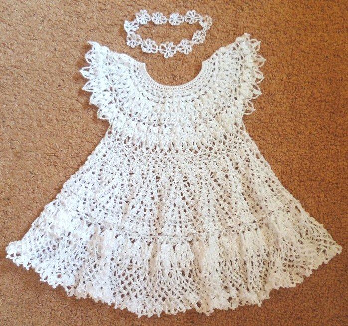 Вязание с крючком детские платье