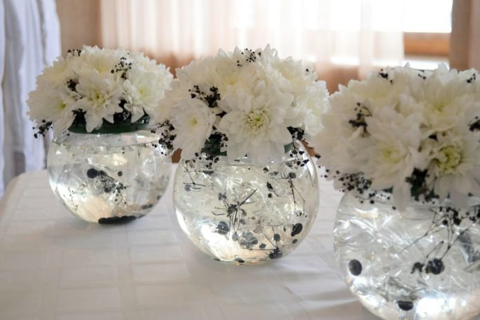 Букеты своими руками на свадебный стол 632