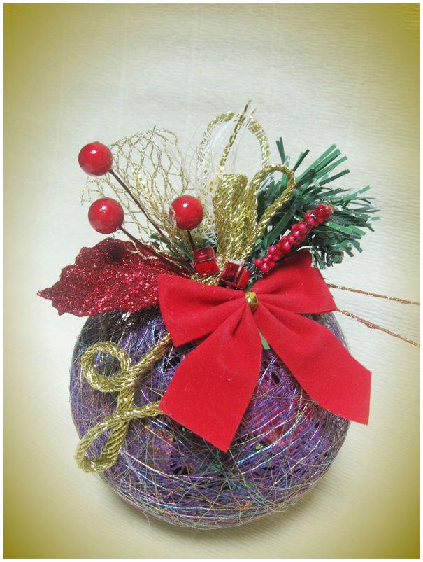Подарки своими руками из ниток на новый год