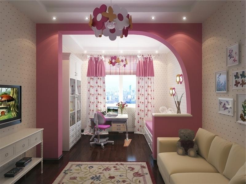 Как разделить комнату на две зоны детскую и гостиную