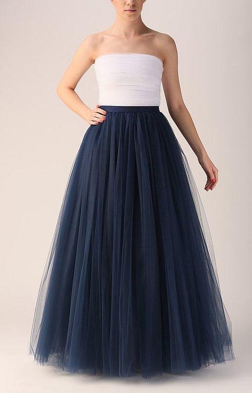 Длинная юбки из фатина фото 52