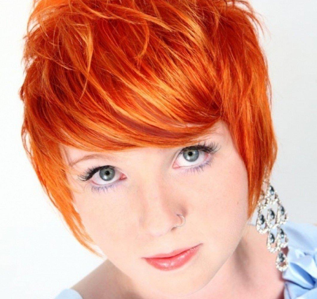 Рыжие девушки фото стрижек