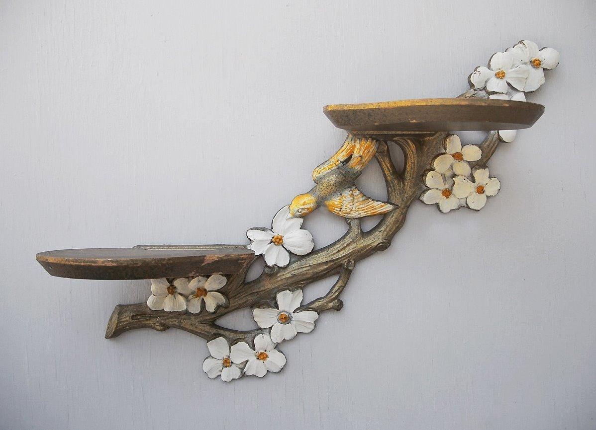 Деревянная полка для цветка своими руками 171