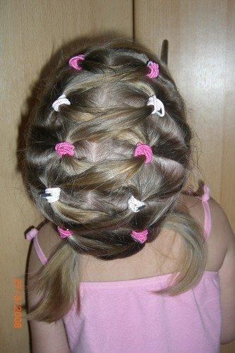 Прически на короткие волосы с резинками для девочек для девочек