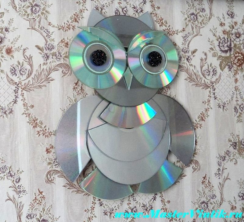 Поделка из компакт дисков своими руками
