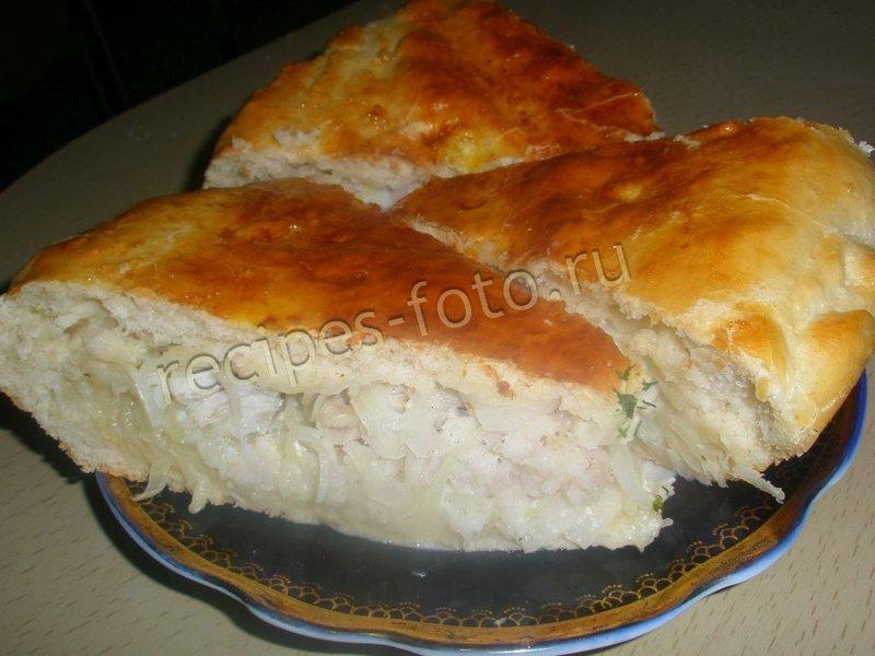Пирог из хека рецепт с