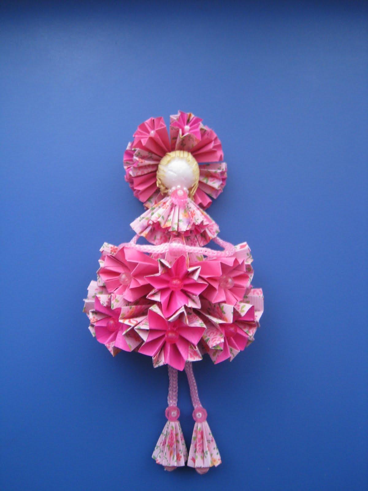 Объёмная кукла из бумаги мастер класс