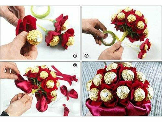 Букеты из цветов своими руками мастер класс фото