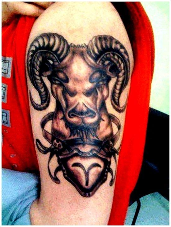 Овен тату для этого знака зодиака