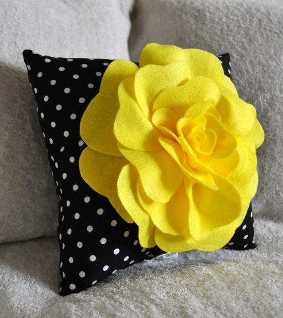 Цветы для подушек своими руками 167