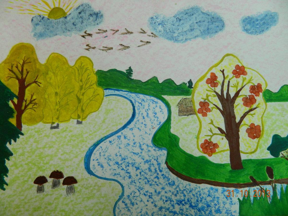 Детские рисунки про лето своими руками 91