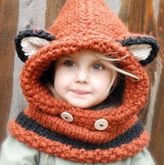 Вязание детской шапки-капор 14