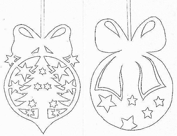 Новогодние украшения шаблоны из бумаги на окна