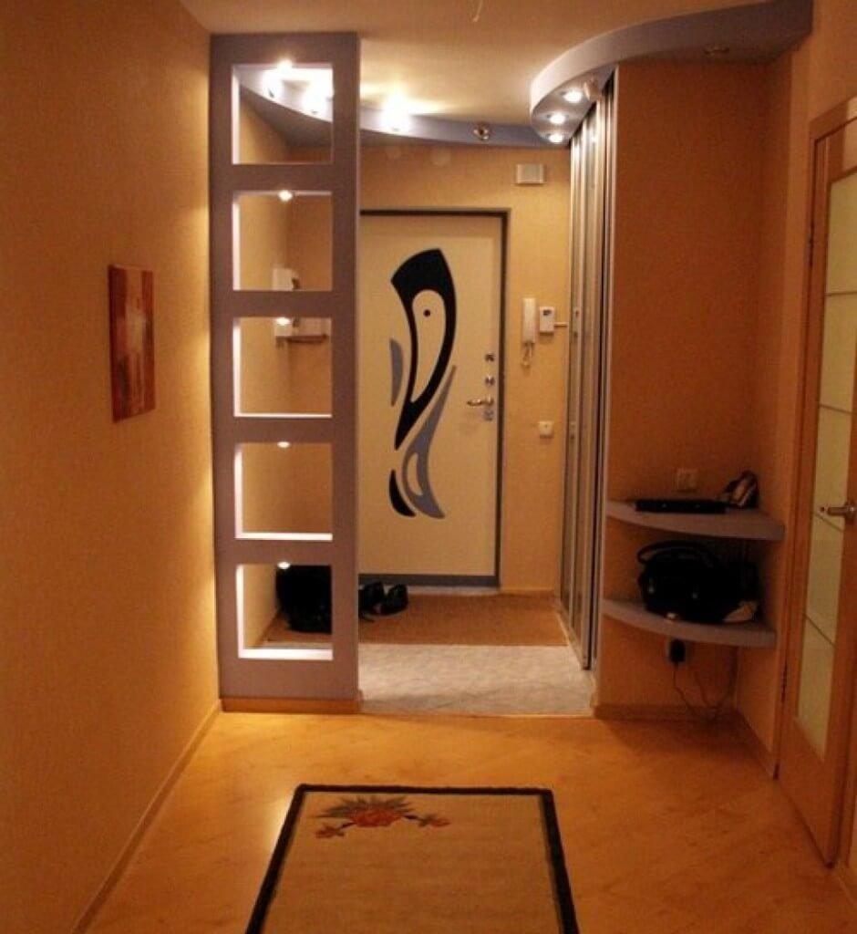 Дизайн интерьера прихожей в доме 46