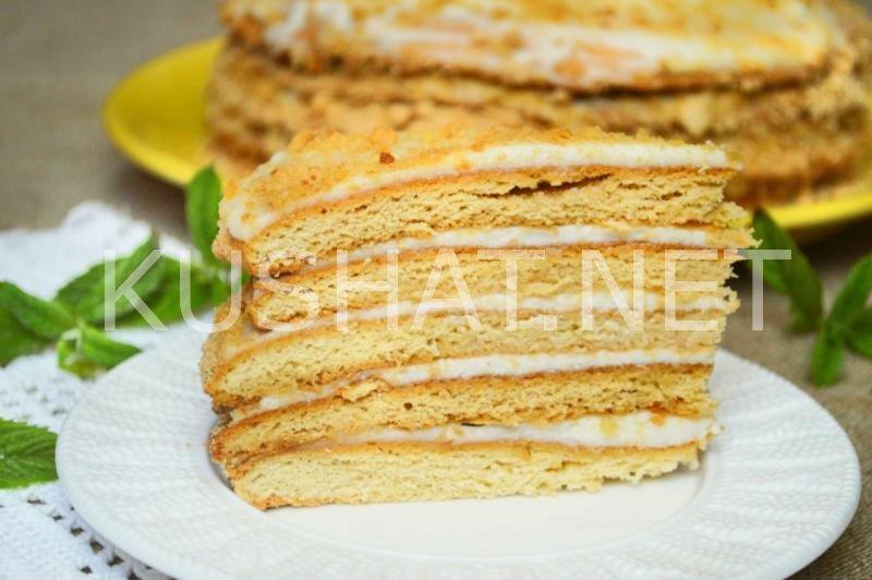 Рецепты тортов с сметанным кремом с пошагово