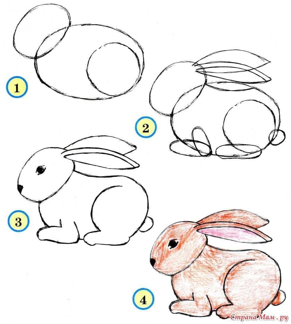 Рисунки для детей поэтапное фото