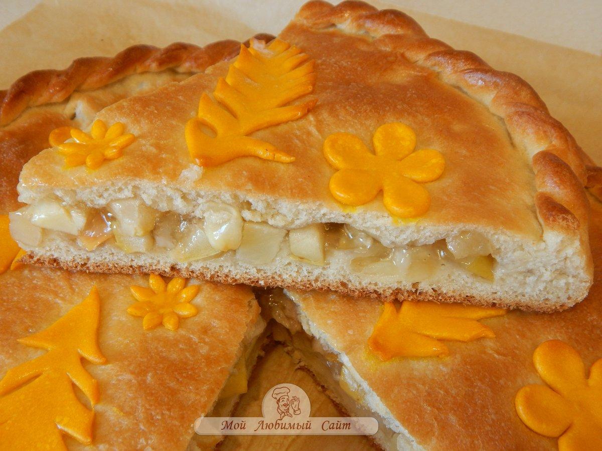 Вкусный яблочный пирог из дрожжевого теста рецепт