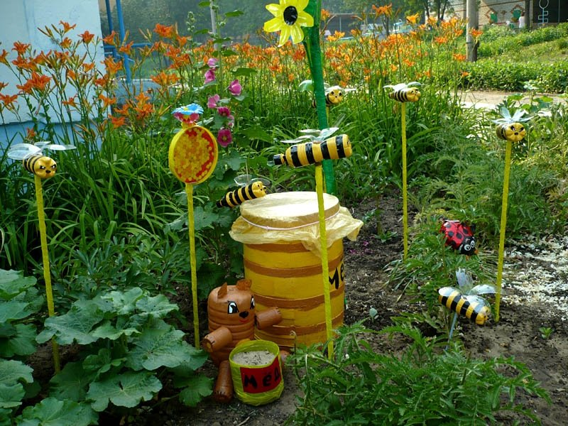 Украсить садик