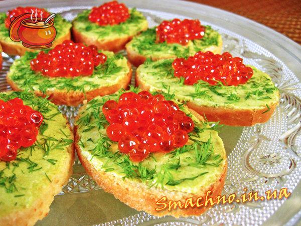 Рецепты бутербродов простые и вкусные с икрой