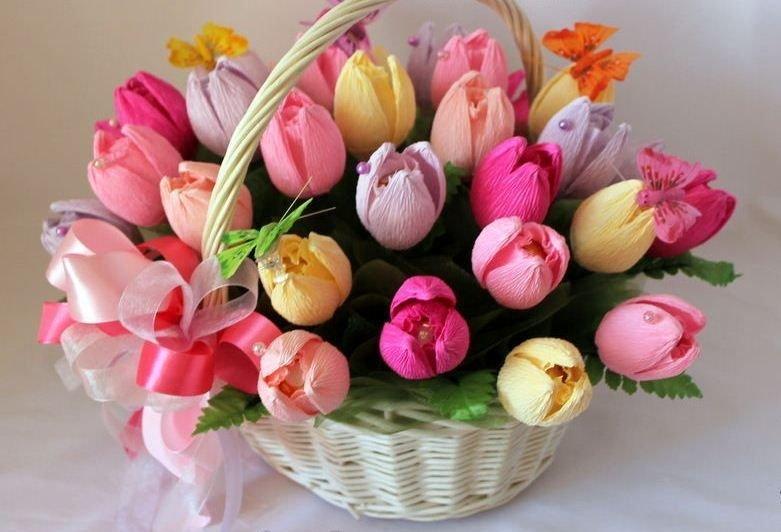 Фото букеты цветов из конфет
