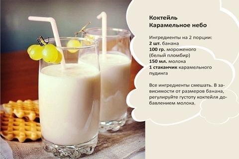 Рецепты молочный коктейлей в домашних условиях с фото