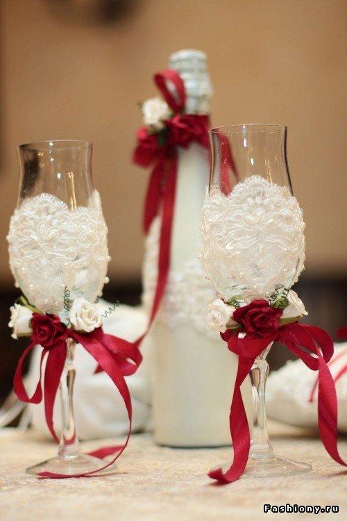 Для свадьбы своими руками бело-красного цвета 409