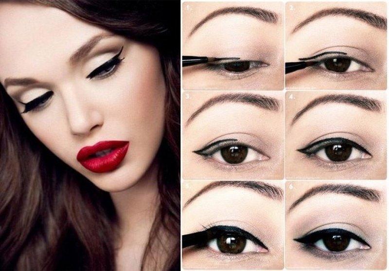 Как нанести макияж чтобы глаза казались большими