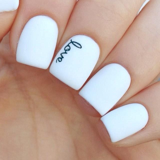 Белые рисунки для ногтей