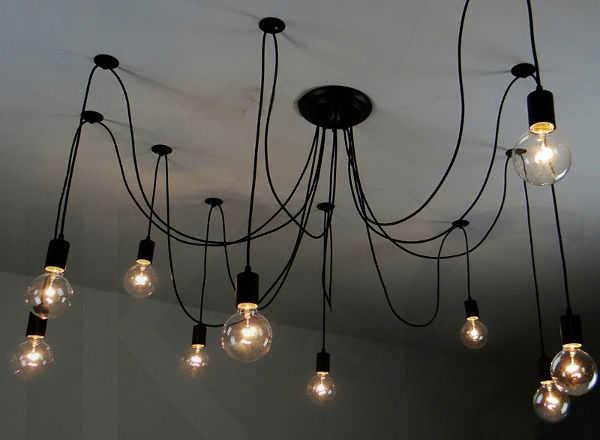 Светильник своими руками лампочки