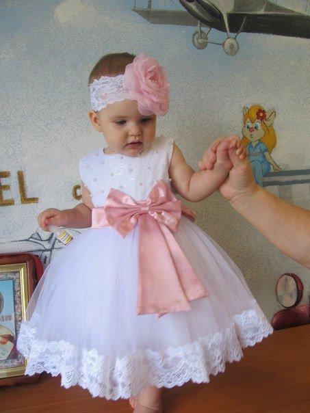 Как сшить пышное платье на годовалую девочку 48