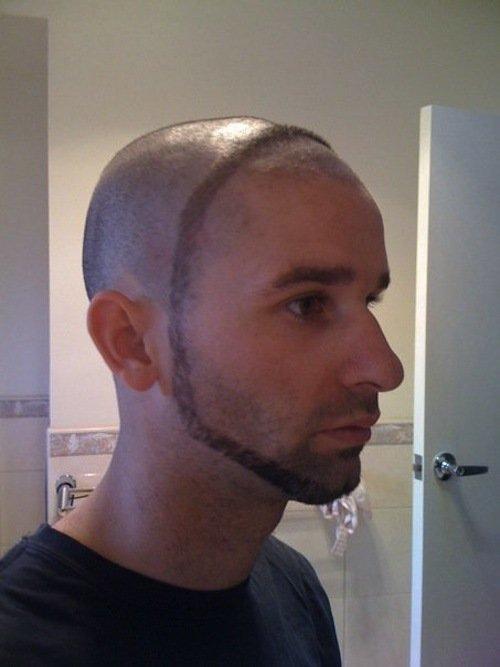 Мужские прически с разрезом волос