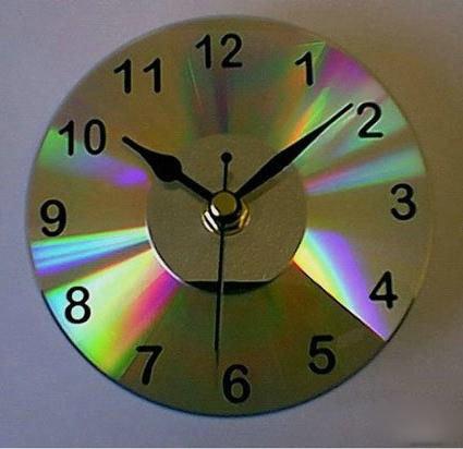 Часы из сд дисков своими руками для