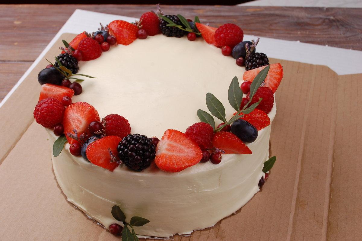 Торт с ягодами - 155 рецептов приготовления пошагово - 1000 15