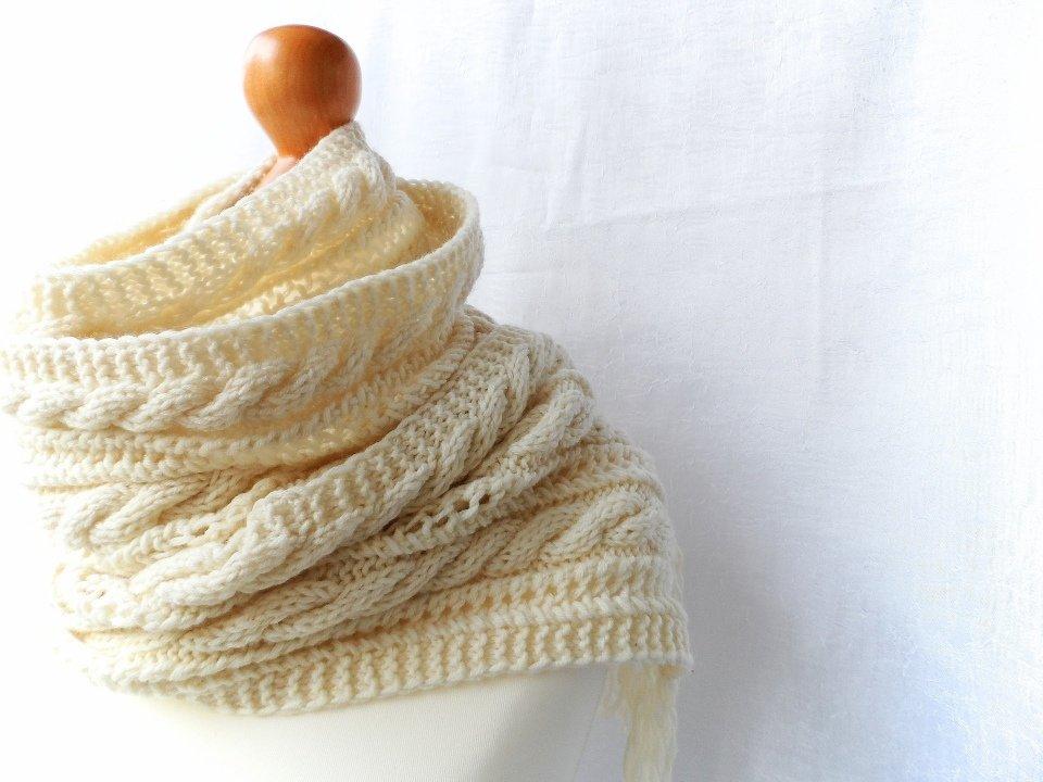 Вязание по косой спицами шарф 611