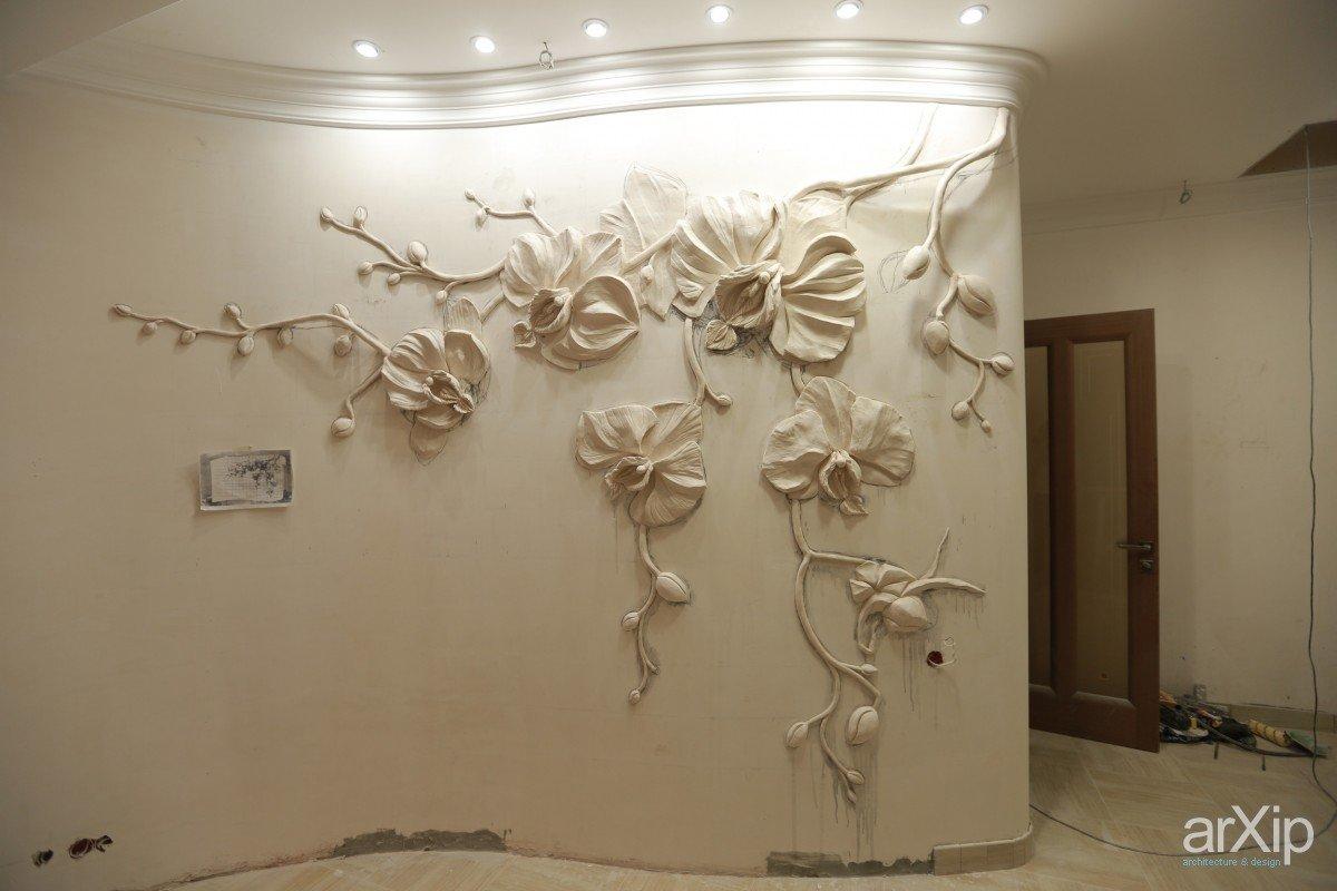 Гипсовый цветок на стену