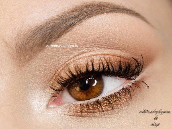 Светло карие глаза дневной макияж